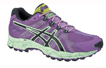 Asics Women's Gel Fuji Attack W purple charcoal green